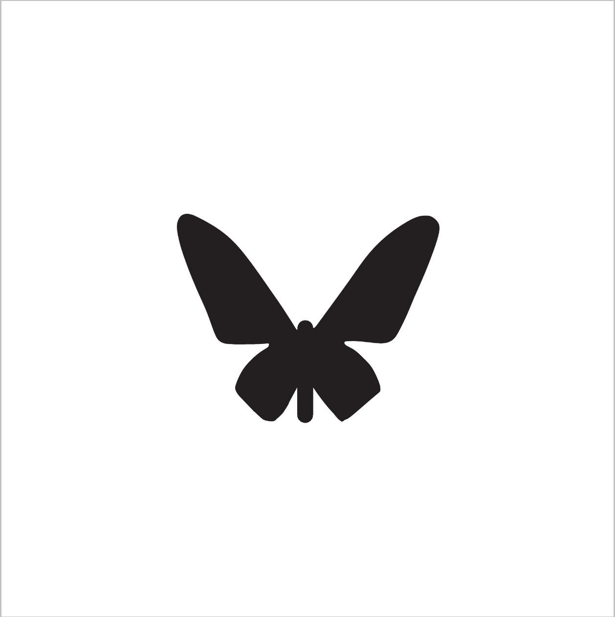 Butterfly Professional Stencil Insert (small)