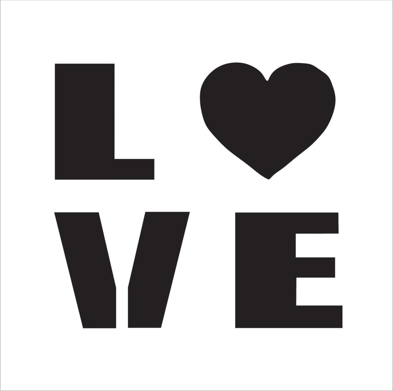 Love Professional Stencil Insert
