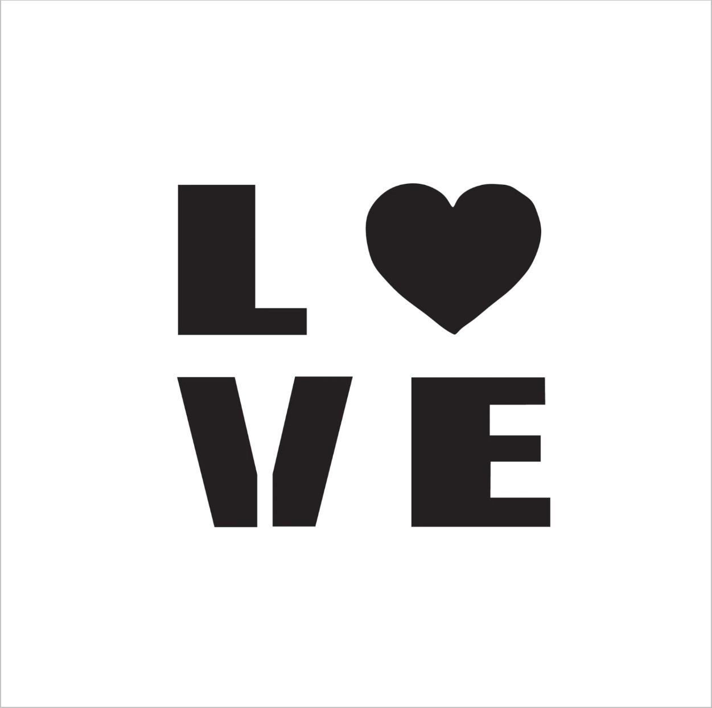 Love Professional Stencil Insert (small)
