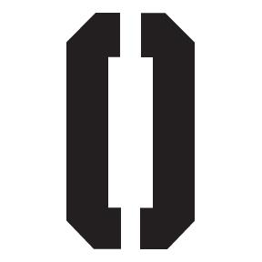 0 Block Letter