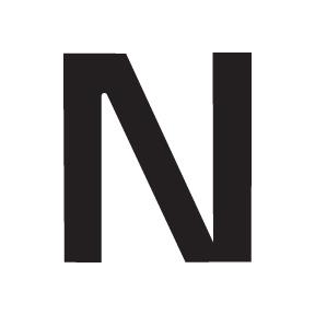 N Block Letter