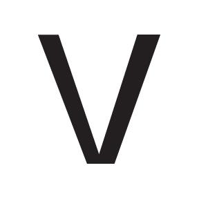 V Block Letter