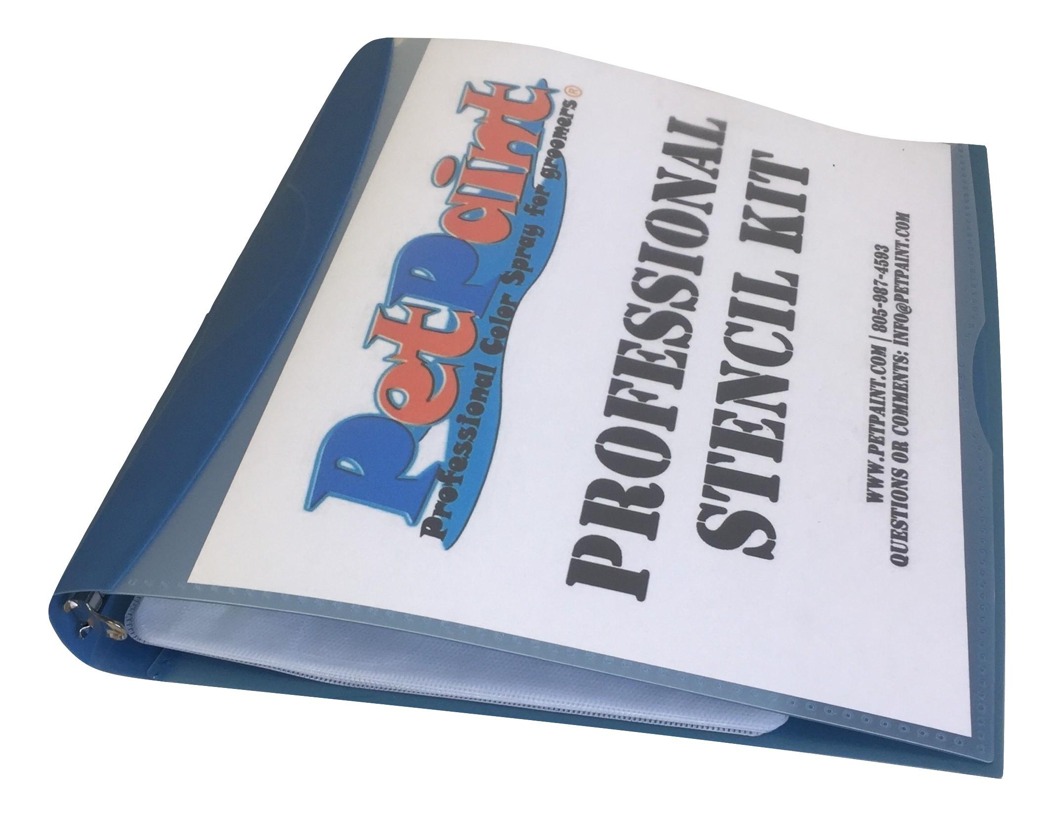 Petpaint Professional Stencil Binder w/ Inserts