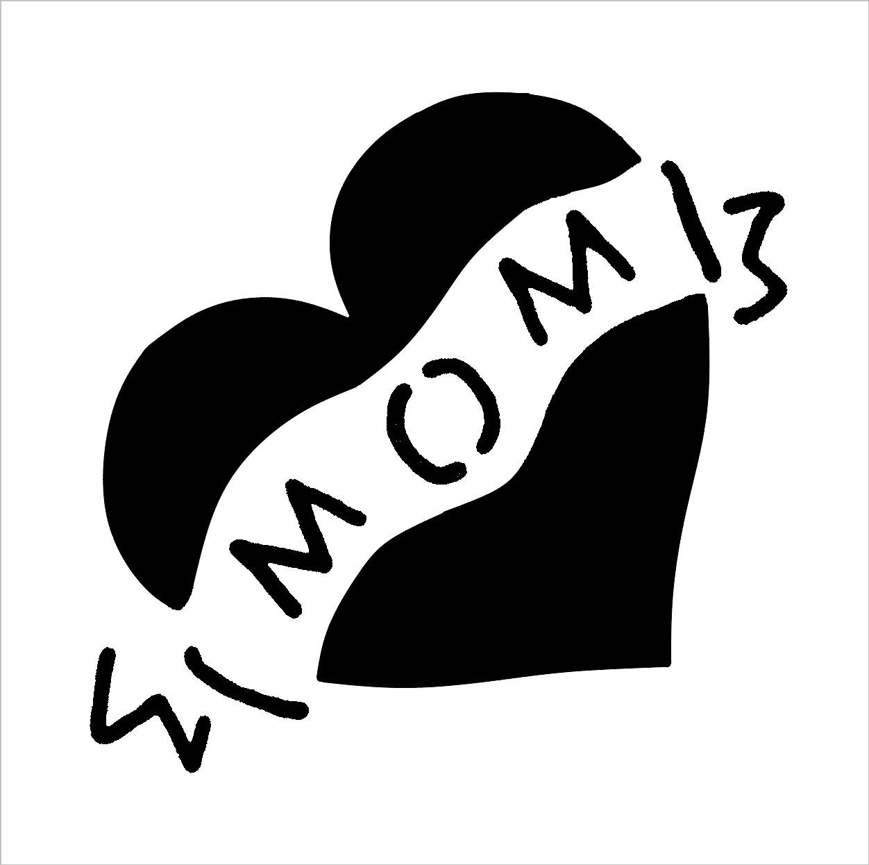 Mom Heart Tattoo Stencil Insert