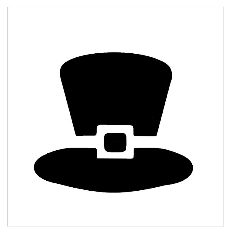 St. Pattys Hat Professional Stencil Insert