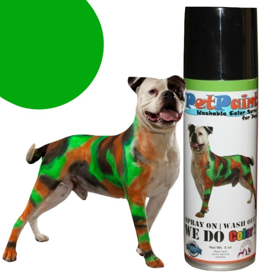 Colored Pet Hair Spray - Greyhound Green
