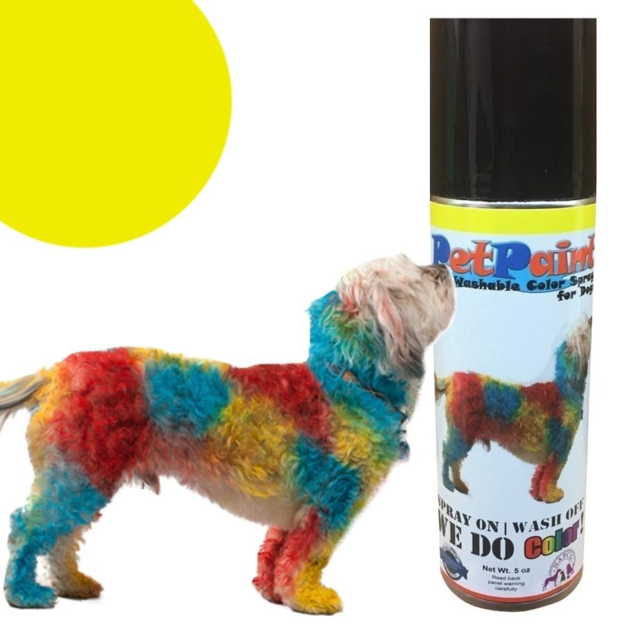 Colored Pet Hair Spray - Yorkie Yellow