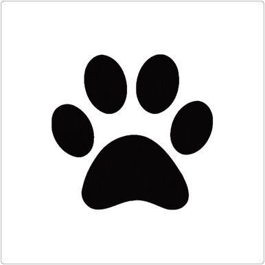 Paw Print Professional Stencil Insert - Pet Paint