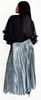 Metallic Pleated Maxi  Skirt