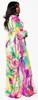 Colorful Swirl Pattern Maxi Dress