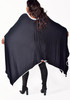 Black and White Loose Fit Poncho