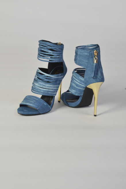Jean Sandal Heel Shoes