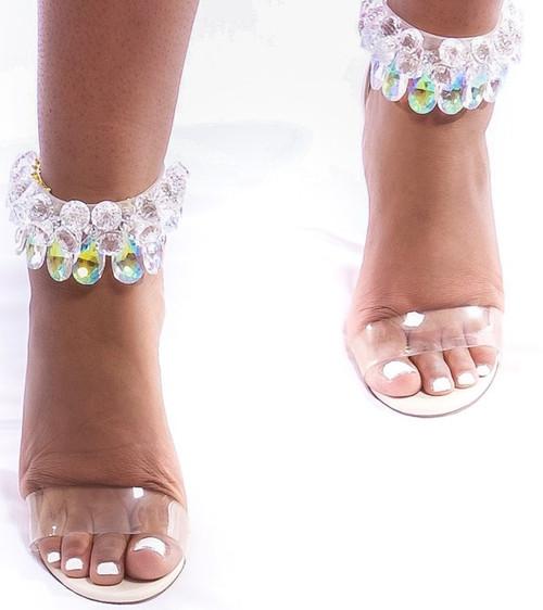 Dazzling Chandelier Heels (Nude)