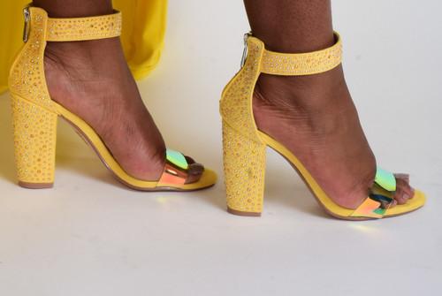 Yellow Sandel Heels