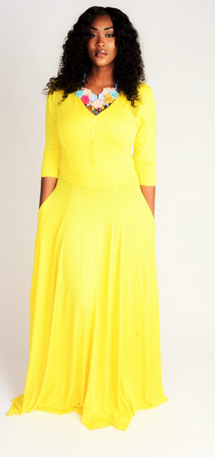 Beautiful  Yellow Maxi Dress