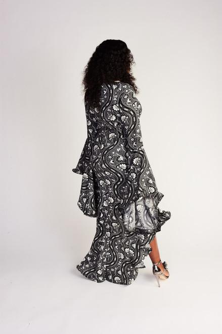 Mermaid maxi dress-Black