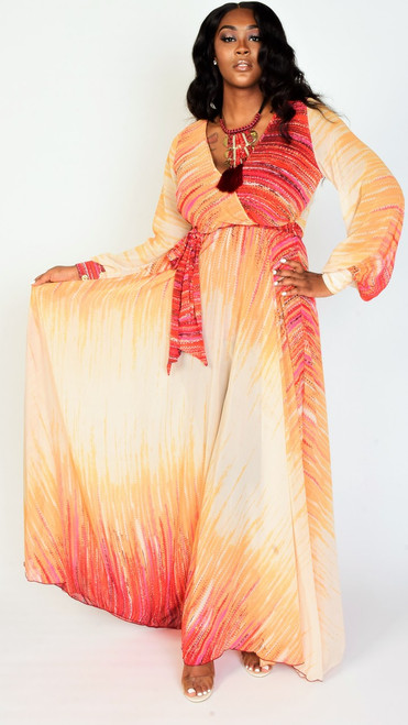 Beautiful Multicolorful Maxi Dress