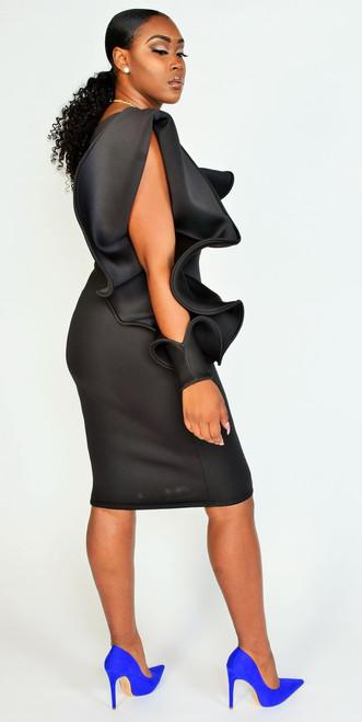 Elegant Classy Black BodyCon Dress