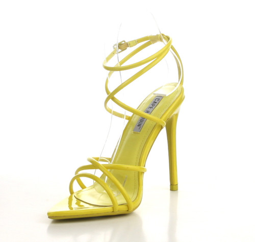 Yellow Pointed Toe Stiletto Heels