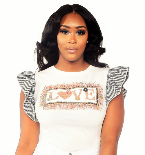 """LOVE"" Fitted Top"