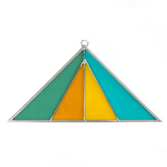 Triangle Stained Glass Suncatcher