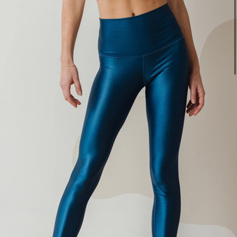 High Shine Leggings Blue Opal