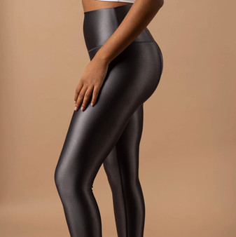 High Shine Leggings Asphalt