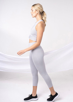 Grey Stripe Leggings