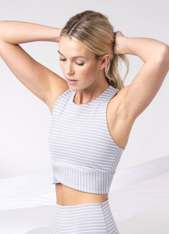 Grey Stripe Bra
