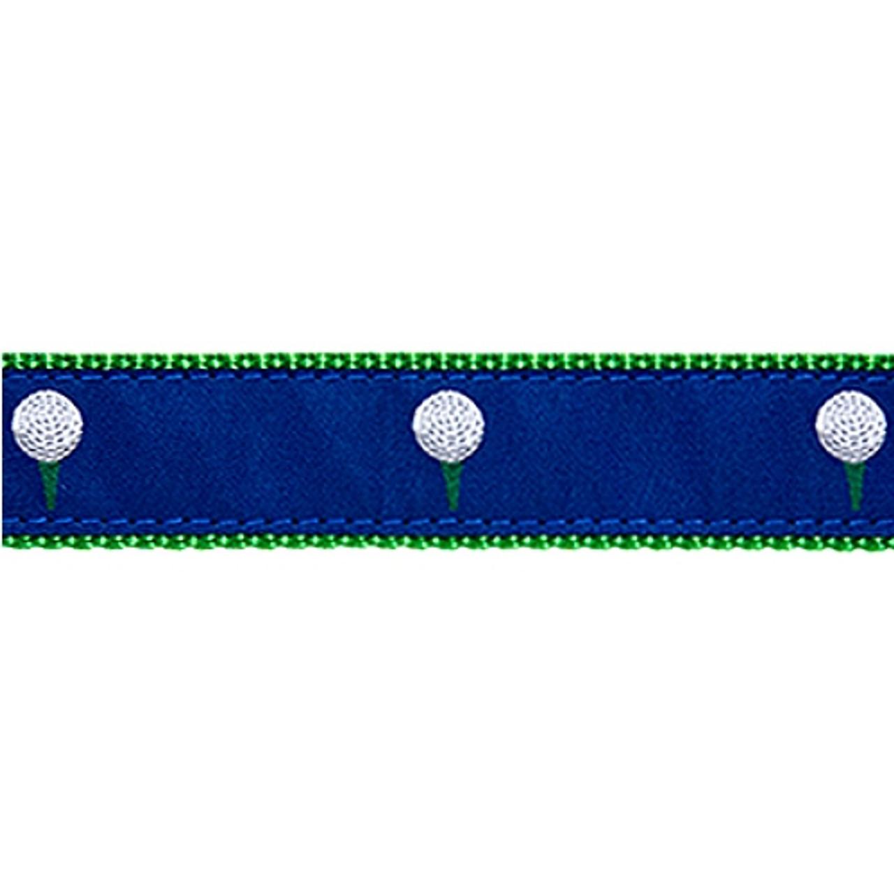 PrestonGolf Clubs//18th Hole Classic Ribbon Key Ring Hunter Green Webbing