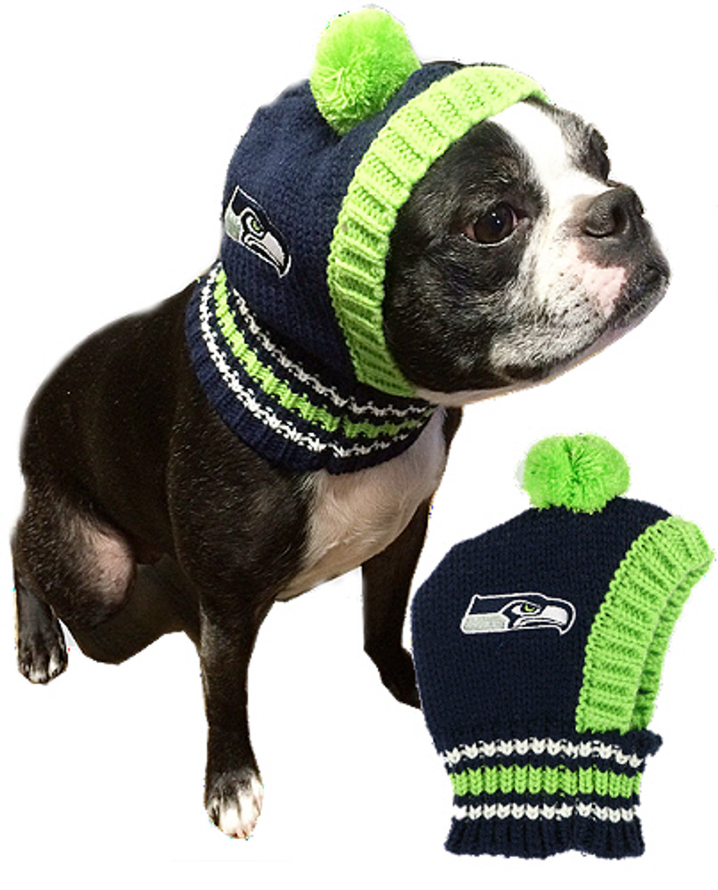 8522d0728 NFL Seattle Seahawks Knit Dog Ski Hat | Hip Doggie at PupRwear | GW ...