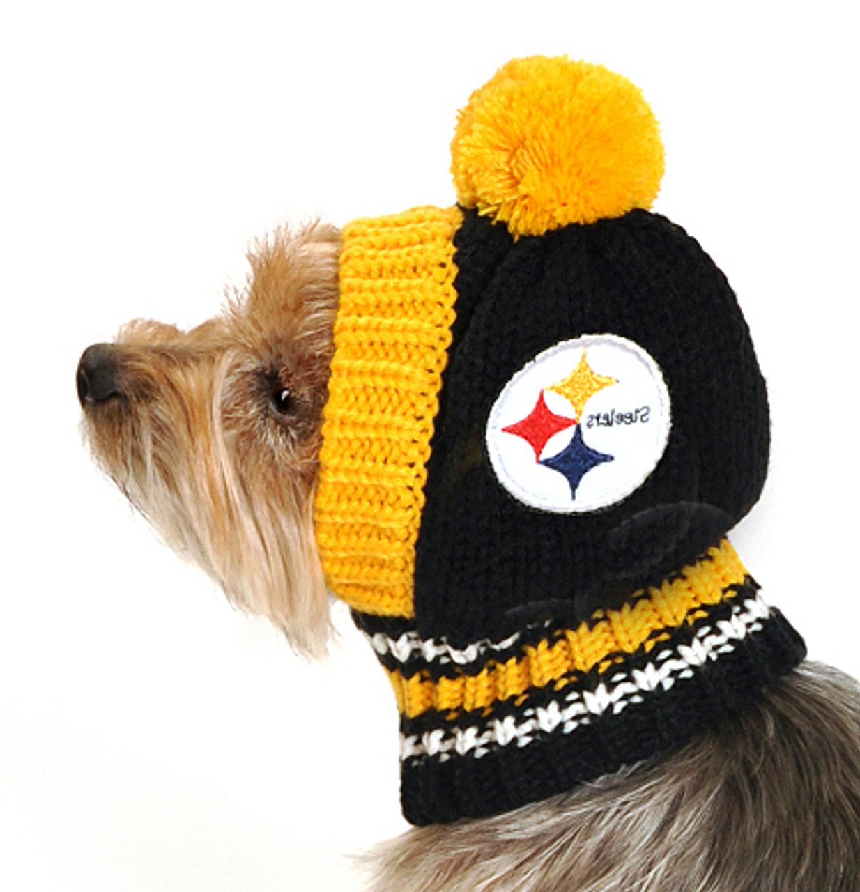 8ad6036d7 NFL Pittsburgh Steelers Knit Dog Ski Hat