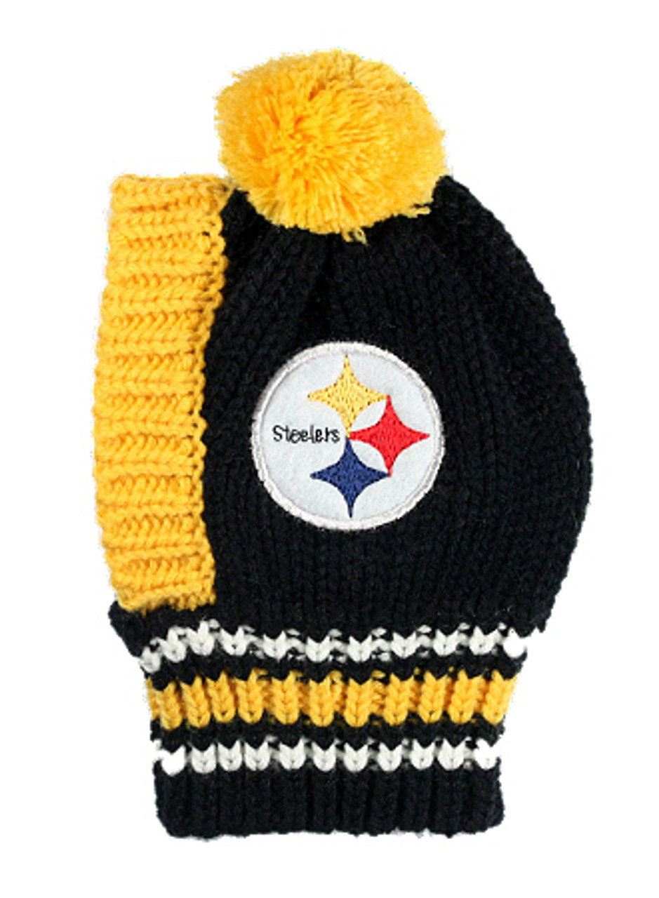 8f7e0b6e62b ... NFL Pittsburgh Steelers Knit Dog Ski Hat
