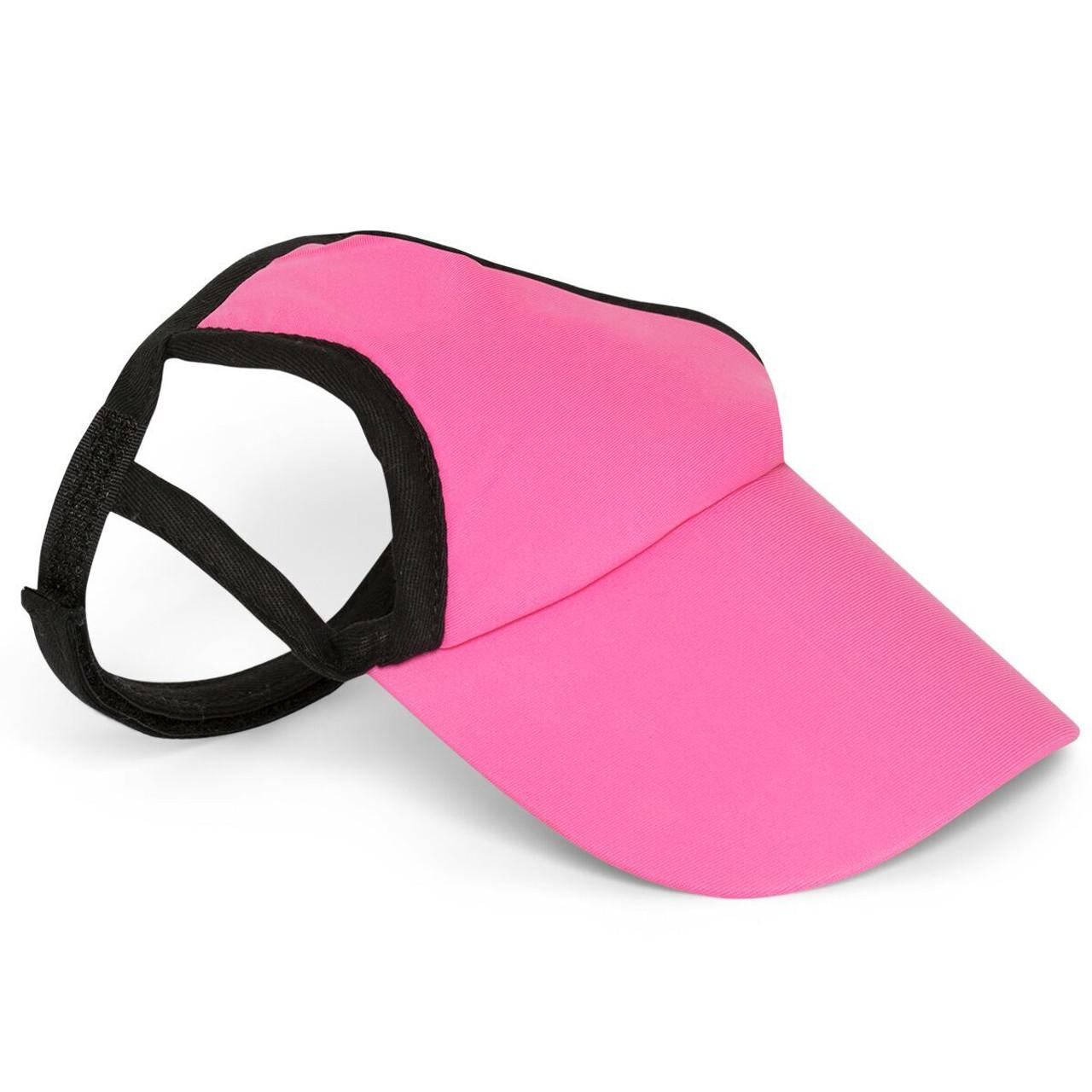 22e058a123f Pretty Pink Sun Protective Dog Visor Hats