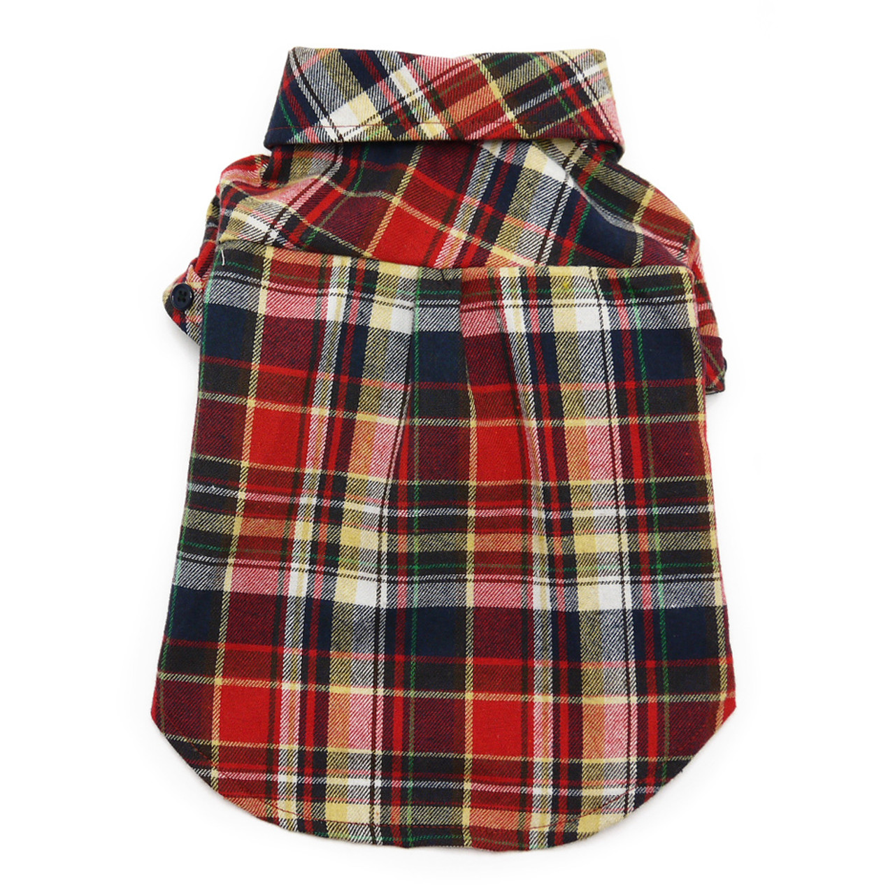 Red Plaid Flannel Button Down Dog Shirts f5d8fe31d