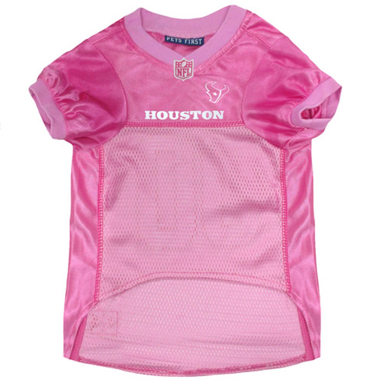 online store dbc7e 5f55b Houston Texans Pink Pet Jersey