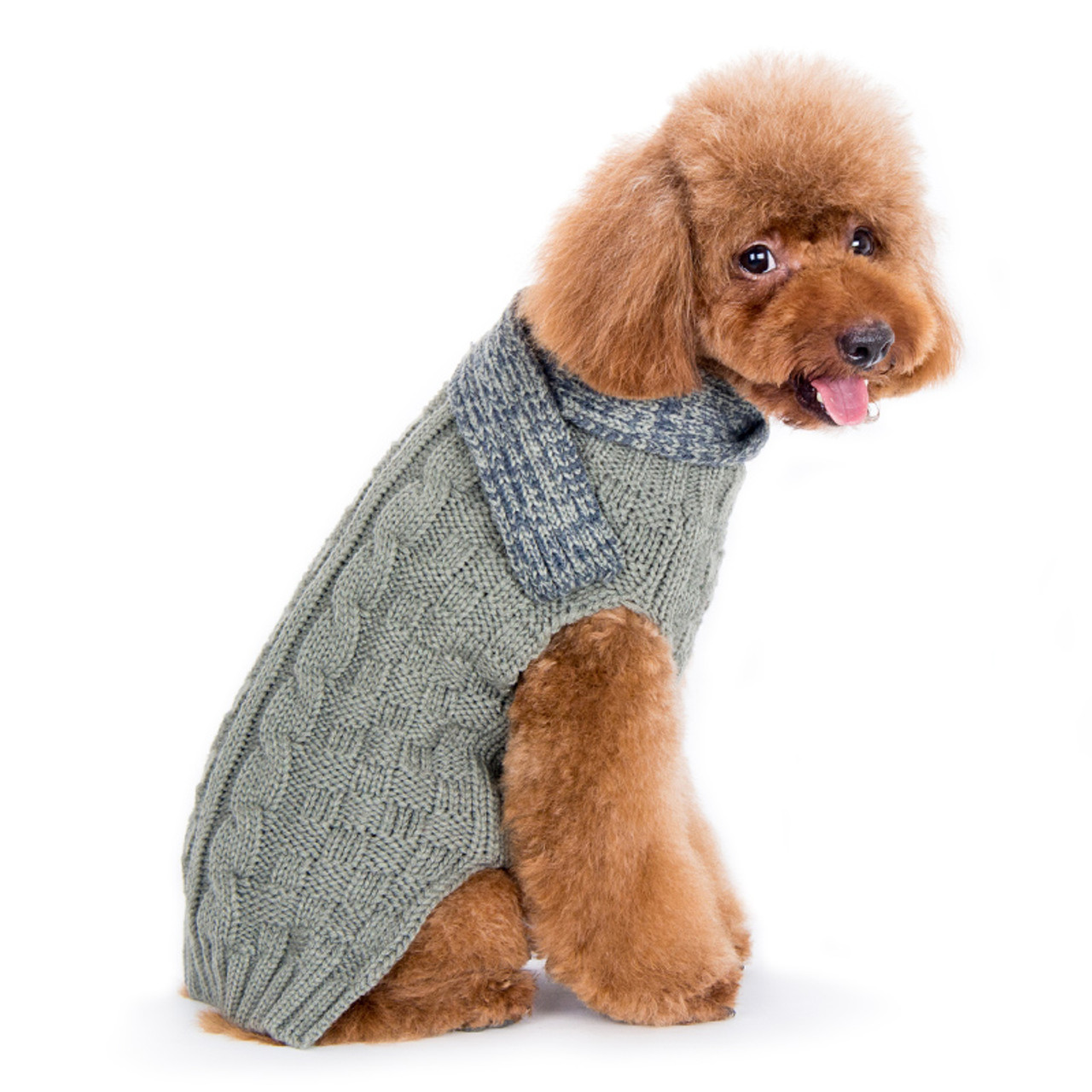 c7d1a04547b1 Urban Cable Scarf Gray Dog Sweater