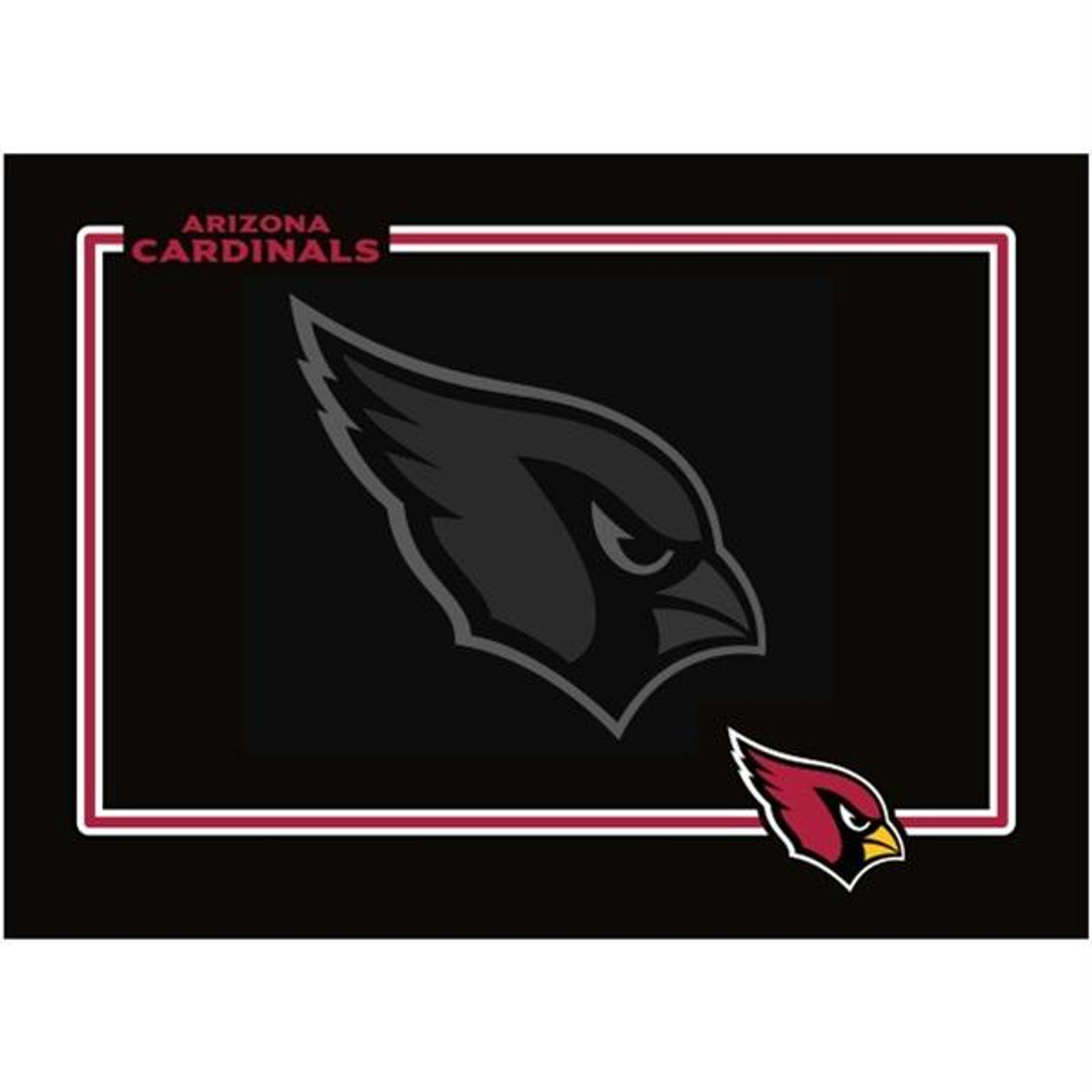 buy online 51b0f 59adb Arizona Cardinals Black Pet Bowl Mat