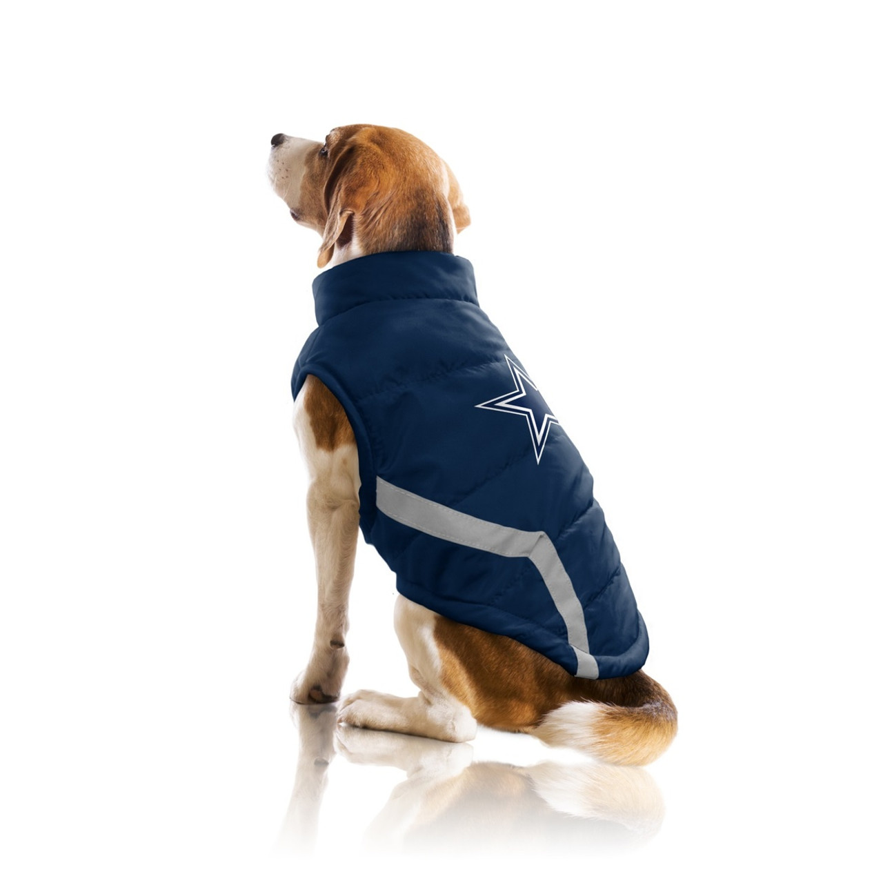 buy online a1ad3 271db Dallas Cowboys Pet Puffer Vest - Teacup