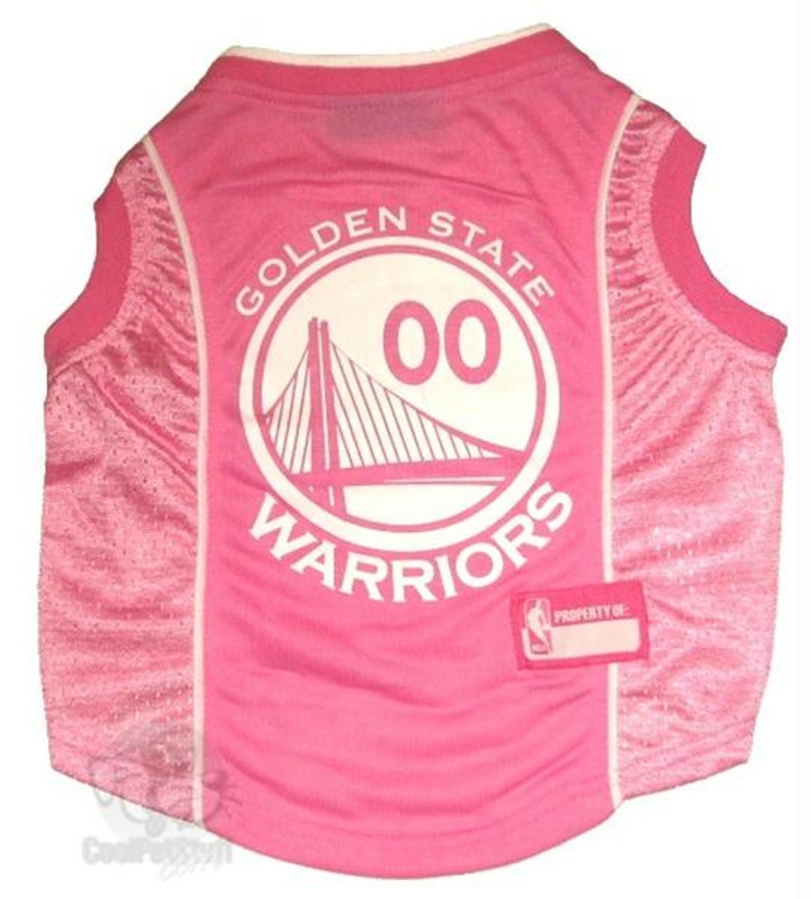 save off f64bb 224e0 Golden State Warriors Pink Pet Jersey
