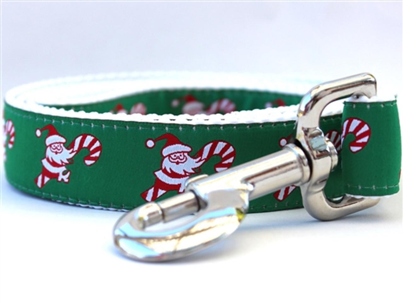 ae74422e1 ... Candy Cane Santa Dog Collar - Personalized Buckle ...