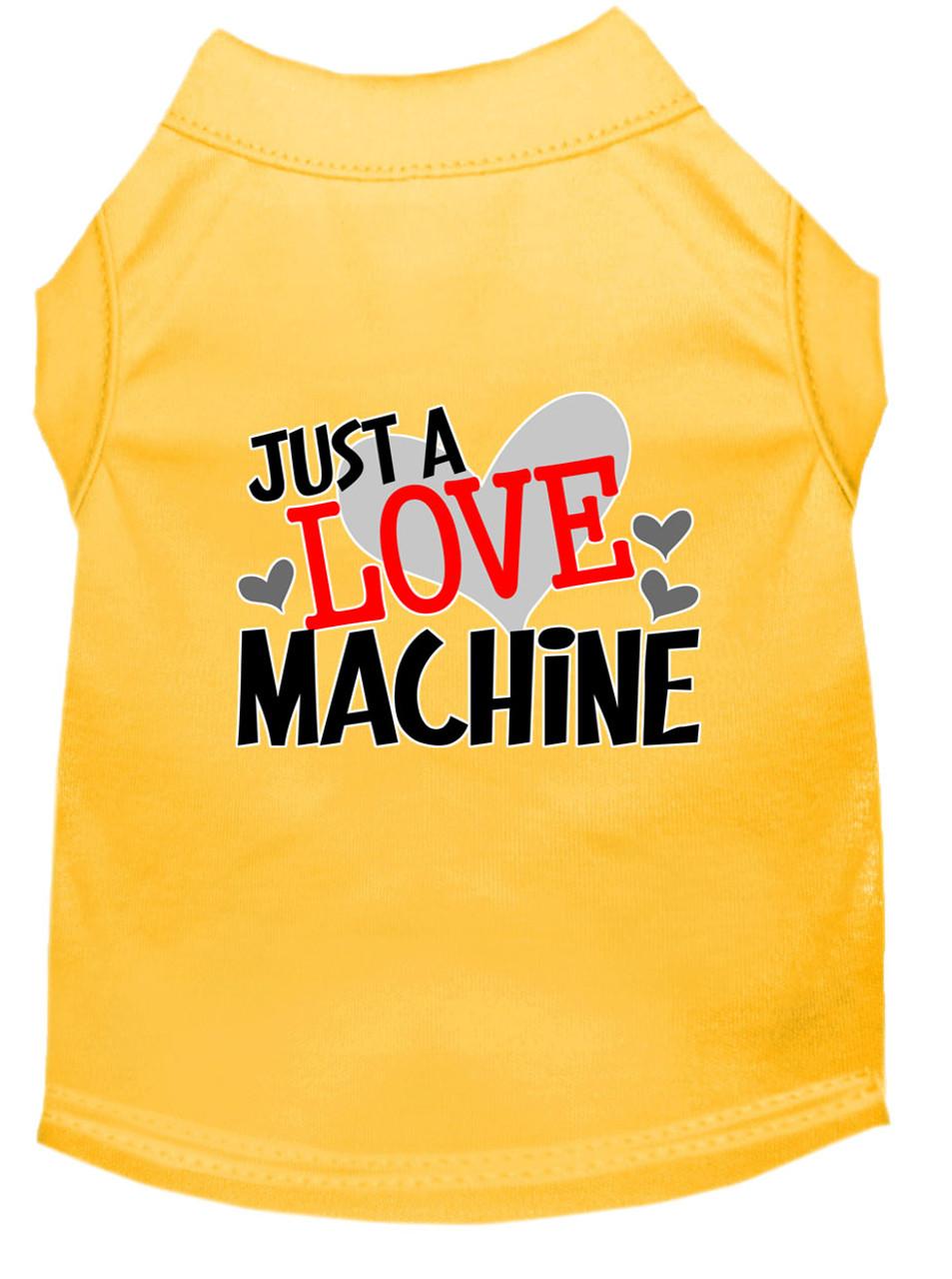 Just A Love Machine Screen Print Dog Shirt Tank 14 Colors Puprwear Gw Little