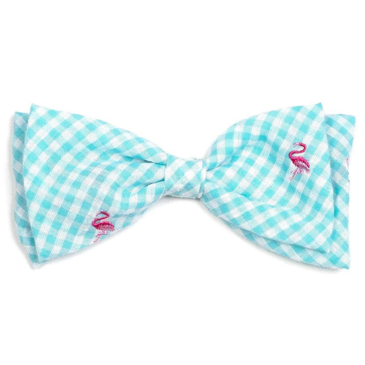 a469e8579d9f Gingham Pink Flamingos Pet Dog Bow Tie | Worthy Dog at PupRwear | GW Little