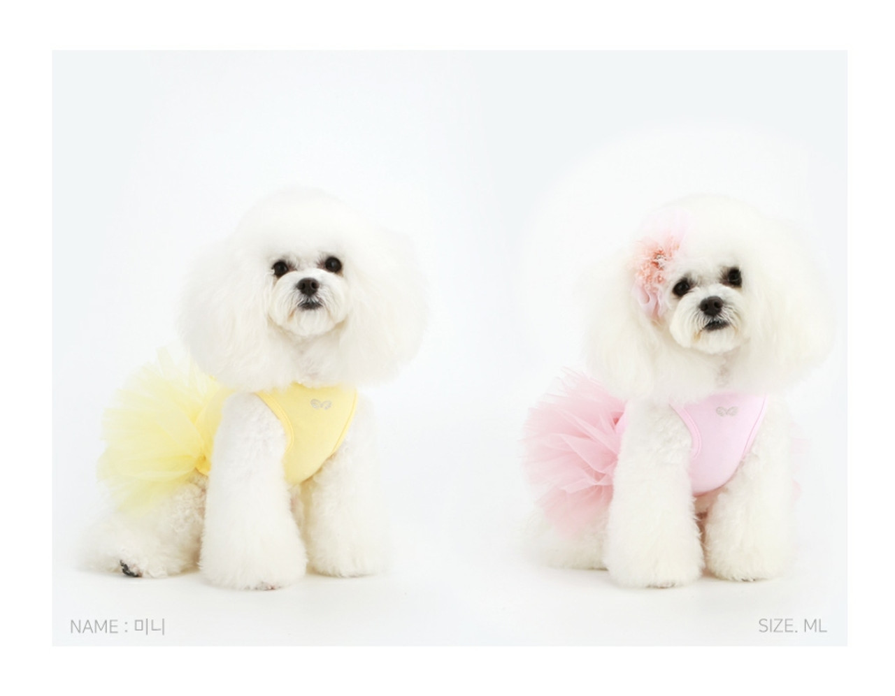 Bichon Frise Dog Ears /& Tail Dress Up Fancy Dress Luxury White Fur With Pink Bow