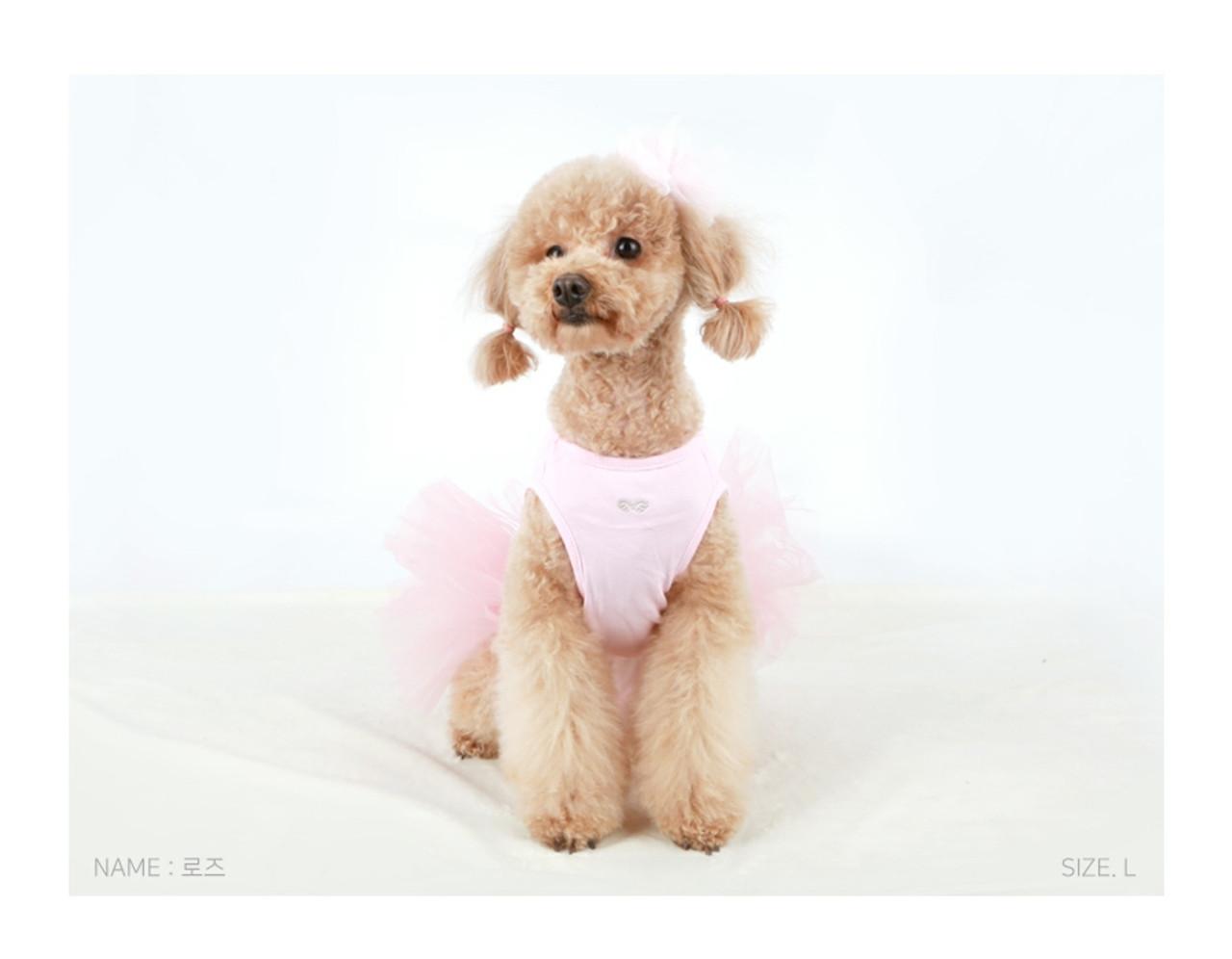 Puppy Angel Tutu Dog Dress Pink 1 Puprwear Doggie Couture