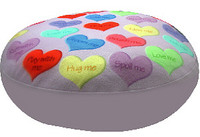 Dog  Bed  or Duvet - Candy Hearts Round