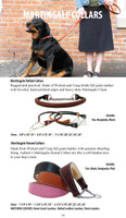 Martingale Leather Dog Collar - Shearling Lined