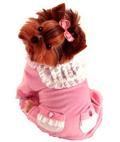 Pink Sweety Dog Pajamas