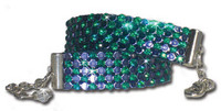 Emerald & Plum Swarovski Crystal Mesh Dog Necklace