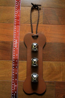 Brown Bell door hanger - Bone